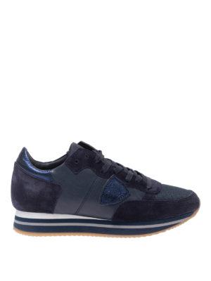 PHILIPPE MODEL: sneakers - Sneaker Tropez Higher in camoscio e pelle