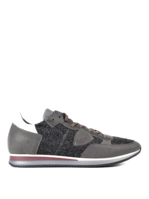 Philippe Model: trainers - Tropez leather and felt sneakers
