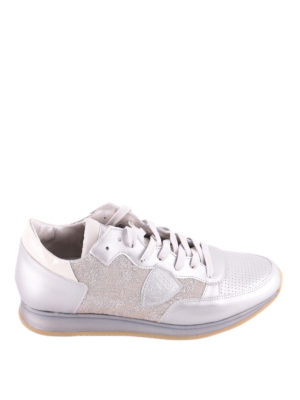 Philippe Model: trainers - Tropez leather and lurex sneakers