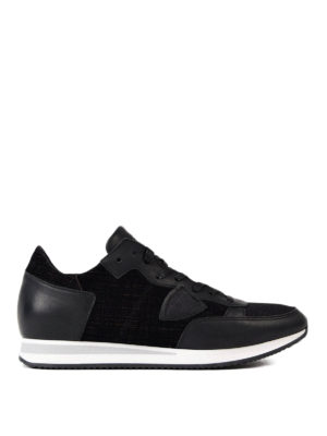 Philippe Model: trainers - Tropez leather and velvet sneakers
