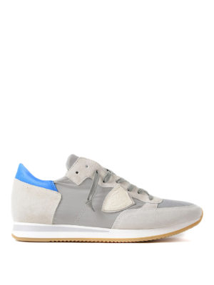 Philippe Model: trainers - Tropez light blue detail sneakers