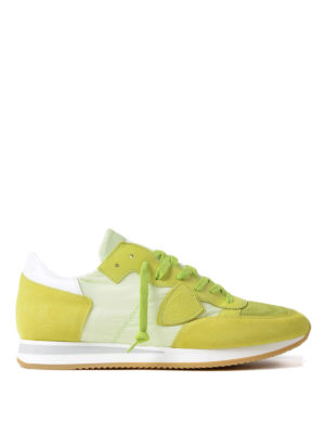 Philippe Model: trainers - Tropez lightweight lime sneakers