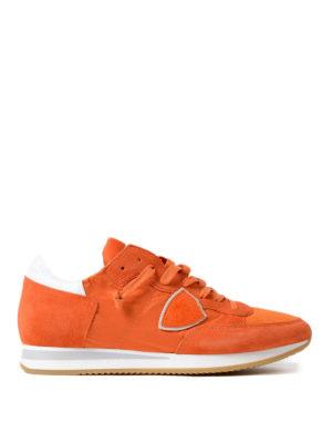 Philippe Model: trainers - Tropez lightweight orange sneakers