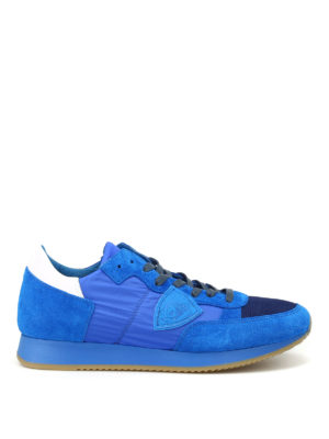 Philippe Model: trainers - Tropez low top royal blue sneakers