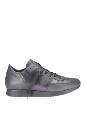 Philippe Model: trainers - Tropez metallic leather sneakers