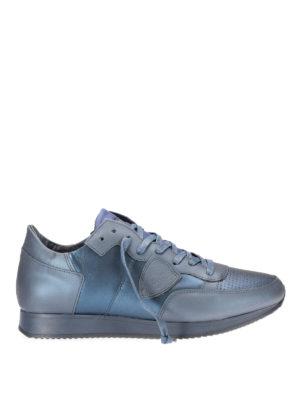 Philippe Model: trainers - Tropez metallic sneakers
