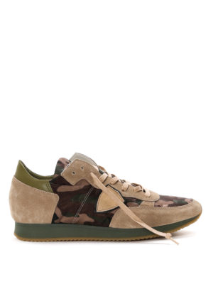 Philippe Model: trainers - Tropez mid top camouflage sneakers