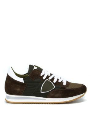 PHILIPPE MODEL: sneakers - Sneaker Tropez suede e nylon verde militare