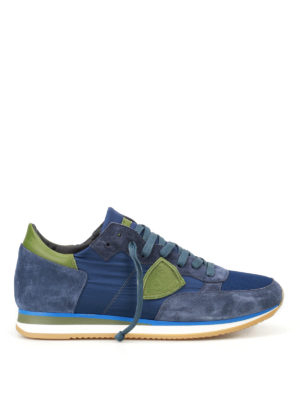 Philippe Model: trainers - Tropez Mondial bleu vert sneakers