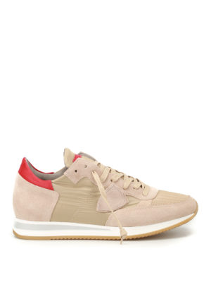 Philippe Model: trainers - Tropez Mondial grey suede sneakers