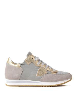 Philippe Model: trainers - Tropez Mondial Gris Platinum shoes