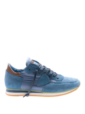 Philippe Model: trainers - Tropez Mondial light blue sneakers