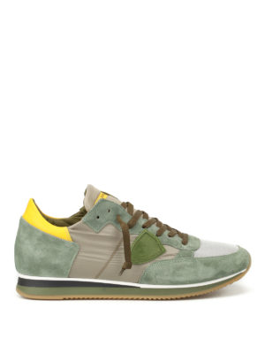 Philippe Model: trainers - Tropez Mondial mud green sneakers