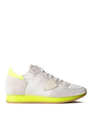 Philippe Model: trainers - Tropez neon blanc jaune sneakers