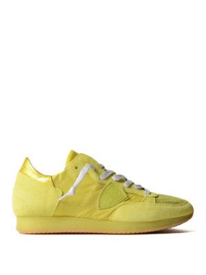 Philippe Model: trainers - Tropez neon jaune sneakers