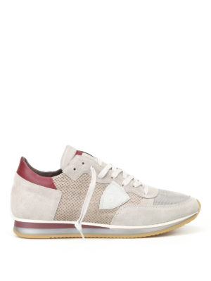 Philippe Model: trainers - Tropez Perfore grey suede sneakers
