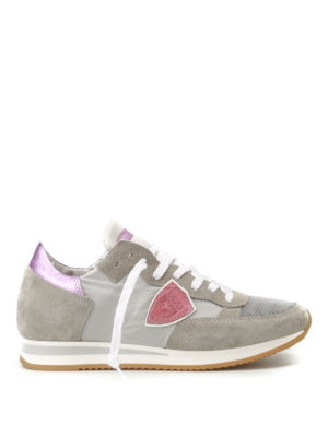Philippe Model: trainers - Tropez pink detail sneakers