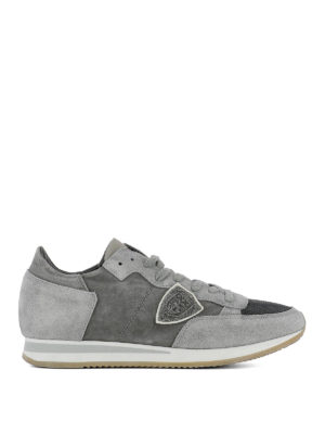 PHILIPPE MODEL: sneakers - Sneaker grigie Tropez Run in suede