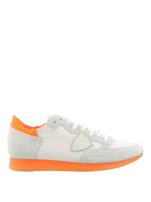 Philippe Model: trainers - Tropez sneakers with orange sole