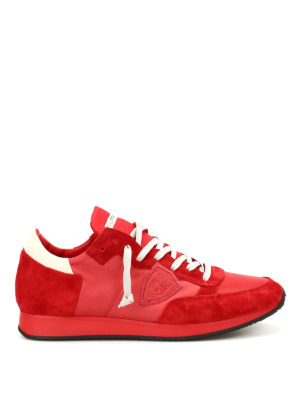 Philippe Model: trainers - Tropez suede and leather sneakers