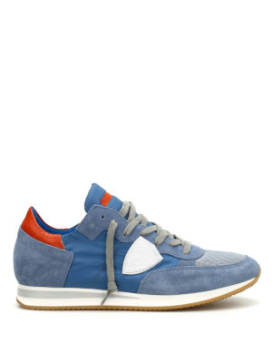 Philippe Model: trainers - Tropez suede and nylon sneakers
