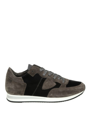 PHILIPPE MODEL: sneakers - Sneaker Tropez in camoscio e velluto