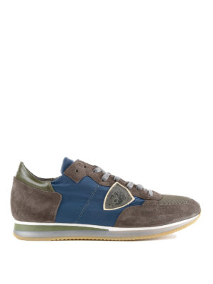 Philippe Model: trainers - Tropez suede multicolour sneakers