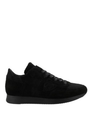PHILIPPE MODEL: sneakers - Sneaker Tropez in camoscio total black