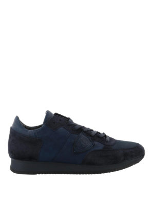 PHILIPPE MODEL: sneakers - Sneaker Tropez blu tinta unita