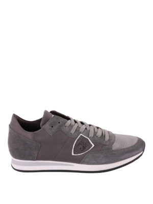PHILIPPE MODEL: sneakers - Sneaker Tropez color grigio tinta unita