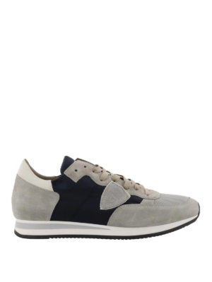 PHILIPPE MODEL: sneakers - Sneaker Tropez bicolore in nylon e camoscio