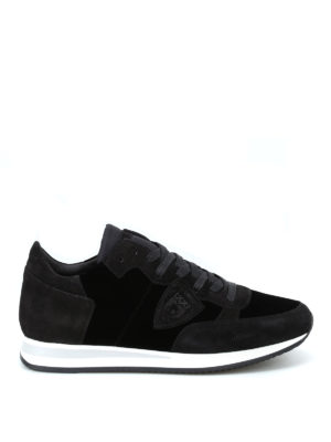 PHILIPPE MODEL: sneakers - Sneaker Tropez color velour noir
