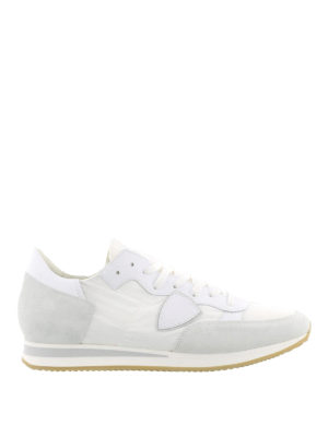 Philippe Model: trainers - Tropez white suede sneakers