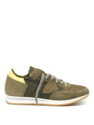 Philippe Model: trainers - Tropez yellow detail sneakers