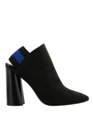 Phillip Lim: ankle boots - Drum slingback black nubuck booties