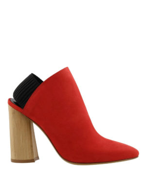 Phillip Lim: ankle boots - Drum slingback nubuck booties
