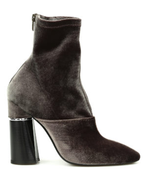 Phillip Lim: ankle boots - Kyoto stretch velvet booties