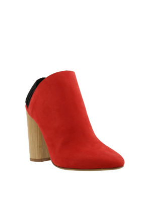 Phillip Lim: ankle boots online - Drum slingback nubuck booties