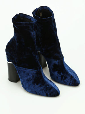 Phillip Lim: ankle boots online - Kyoto stretch velvet booties
