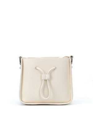 Phillip Lim: Bucket bags - Soleil off-white mini bucket bag