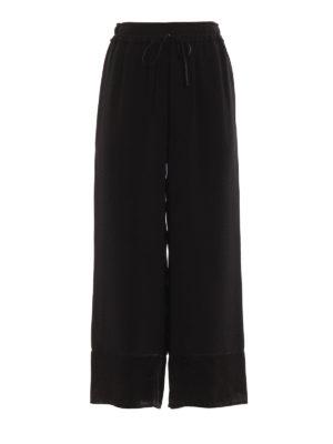 PHILLIP LIM: pantaloni casual - Pantaloni crop a gamba ampia in seta
