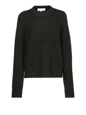 PHILLIP LIM: maglia collo rotondo - Pull morbido nero in misto alpaca