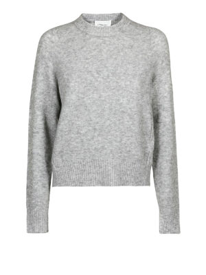 PHILLIP LIM: maglia collo rotondo - Pull morbido grigio in misto alpaca