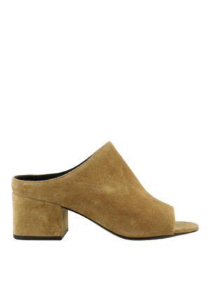 Phillip Lim: mules shoes - Cube oak suede mules
