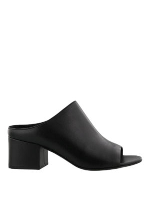 Phillip Lim: mules shoes - Cube open toe leather mules