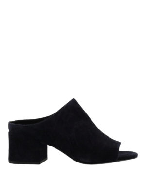 Phillip Lim: mules shoes - Cube open toe suede mules