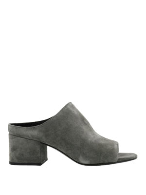 Phillip Lim: mules shoes - Cube stone suede mules