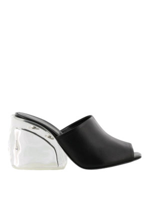 Phillip Lim: mules shoes - Leather Plexi-Heel mules