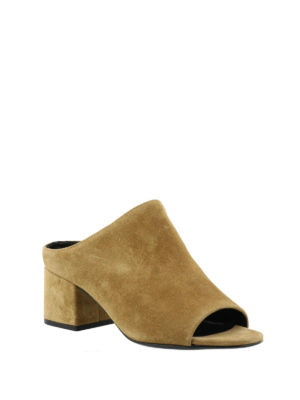 Phillip Lim: mules shoes online - Cube oak suede mules