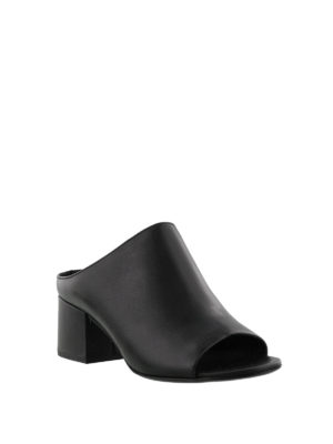 Phillip Lim: mules shoes online - Cube open toe leather mules